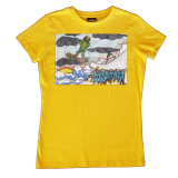 Snowboarding Yellow (Womens)